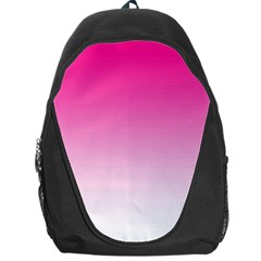 Gradients Pink White Backpack Bag by Mariart