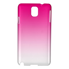 Gradients Pink White Samsung Galaxy Note 3 N9005 Hardshell Case by Mariart