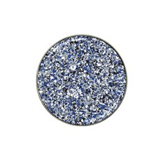 Electric Blue Blend Stone Glass Hat Clip Ball Marker by Mariart