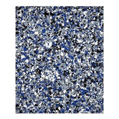 Electric Blue Blend Stone Glass Shower Curtain 60  X 72  (medium)  by Mariart