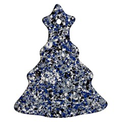 Electric Blue Blend Stone Glass Ornament (christmas Tree)  by Mariart