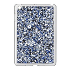 Electric Blue Blend Stone Glass Apple Ipad Mini Case (white) by Mariart