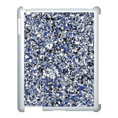 Electric Blue Blend Stone Glass Apple Ipad 3/4 Case (white) by Mariart