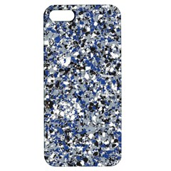 Electric Blue Blend Stone Glass Apple Iphone 5 Hardshell Case With Stand by Mariart