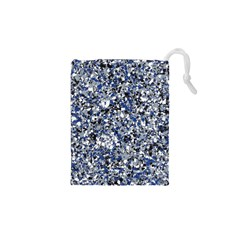 Electric Blue Blend Stone Glass Drawstring Pouches (xs)  by Mariart