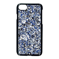 Electric Blue Blend Stone Glass Apple Iphone 7 Seamless Case (black) by Mariart
