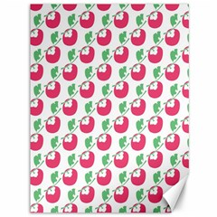 Fruit Pink Green Mangosteen Canvas 36  X 48   by Mariart