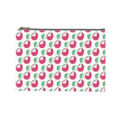 Fruit Pink Green Mangosteen Cosmetic Bag (large)  by Mariart