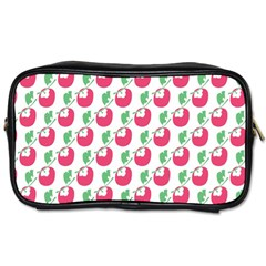 Fruit Pink Green Mangosteen Toiletries Bags by Mariart
