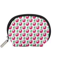 Fruit Pink Green Mangosteen Accessory Pouches (small)  by Mariart