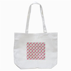 Fruit Pink Green Mangosteen Tote Bag (white) by Mariart