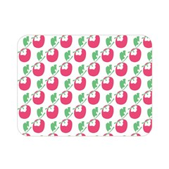 Fruit Pink Green Mangosteen Double Sided Flano Blanket (mini)  by Mariart