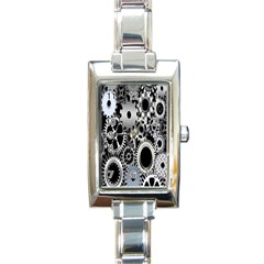 Gears Technology Steel Mechanical Chain Iron Rectangle Italian Charm Watch by Mariart