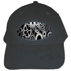 Gears Technology Steel Mechanical Chain Iron Black Cap by Mariart