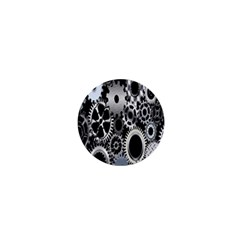 Gears Technology Steel Mechanical Chain Iron 1  Mini Buttons by Mariart
