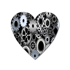 Gears Technology Steel Mechanical Chain Iron Heart Magnet by Mariart