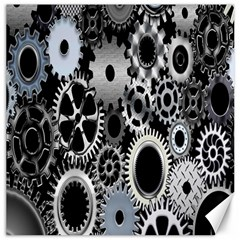 Gears Technology Steel Mechanical Chain Iron Canvas 12  X 12   by Mariart