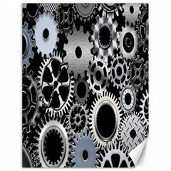 Gears Technology Steel Mechanical Chain Iron Canvas 18  X 24   by Mariart