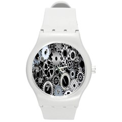 Gears Technology Steel Mechanical Chain Iron Round Plastic Sport Watch (m) by Mariart