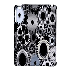 Gears Technology Steel Mechanical Chain Iron Apple Ipad Mini Hardshell Case (compatible With Smart Cover) by Mariart
