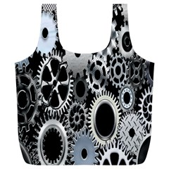 Gears Technology Steel Mechanical Chain Iron Full Print Recycle Bags (l)  by Mariart