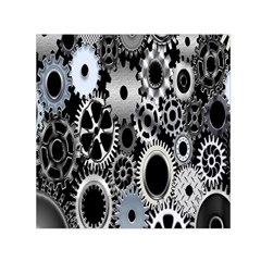 Gears Technology Steel Mechanical Chain Iron Small Satin Scarf (square) by Mariart
