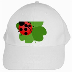 Insect Flower Floral Animals Green Red White Cap by Mariart