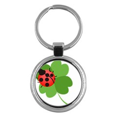 Insect Flower Floral Animals Green Red Key Chains (round)  by Mariart
