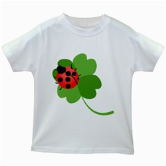 Insect Flower Floral Animals Green Red Kids White T Shirts by Mariart