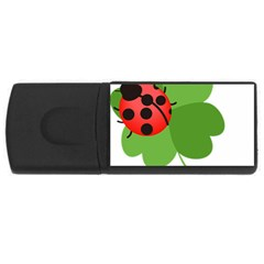 Insect Flower Floral Animals Green Red Usb Flash Drive Rectangular (4 Gb) by Mariart