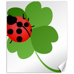 Insect Flower Floral Animals Green Red Canvas 20  X 24   by Mariart