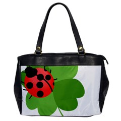 Insect Flower Floral Animals Green Red Office Handbags by Mariart