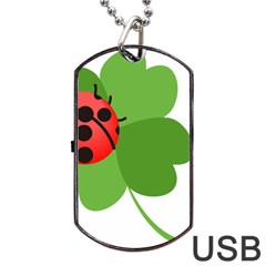 Insect Flower Floral Animals Green Red Dog Tag Usb Flash (one Side) by Mariart