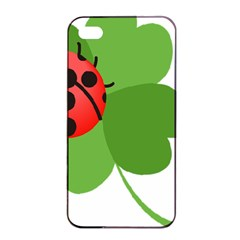 Insect Flower Floral Animals Green Red Apple Iphone 4/4s Seamless Case (black) by Mariart