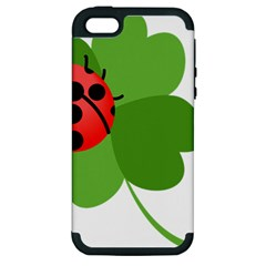 Insect Flower Floral Animals Green Red Apple Iphone 5 Hardshell Case (pc+silicone) by Mariart