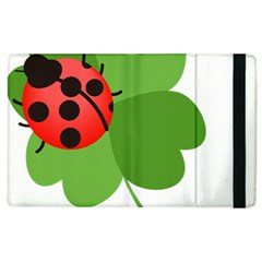 Insect Flower Floral Animals Green Red Apple Ipad 3/4 Flip Case by Mariart