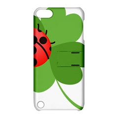 Insect Flower Floral Animals Green Red Apple Ipod Touch 5 Hardshell Case With Stand by Mariart