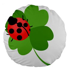 Insect Flower Floral Animals Green Red Large 18  Premium Flano Round Cushions by Mariart