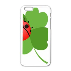 Insect Flower Floral Animals Green Red Apple Iphone 6/6s White Enamel Case by Mariart