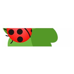 Insect Flower Floral Animals Green Red Satin Scarf (oblong) by Mariart