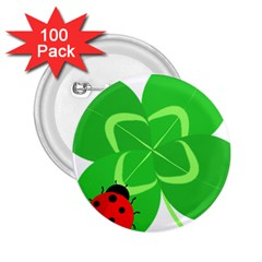 Insect Flower Floral Animals Green Red Line 2 25  Buttons (100 Pack)  by Mariart