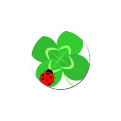 Insect Flower Floral Animals Green Red Line Golf Ball Marker (4 Pack) by Mariart