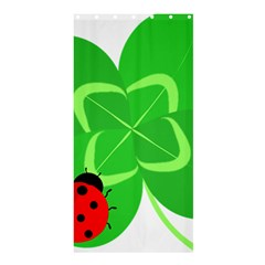 Insect Flower Floral Animals Green Red Line Shower Curtain 36  X 72  (stall)  by Mariart