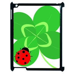 Insect Flower Floral Animals Green Red Line Apple Ipad 2 Case (black) by Mariart