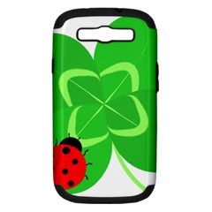 Insect Flower Floral Animals Green Red Line Samsung Galaxy S Iii Hardshell Case (pc+silicone) by Mariart
