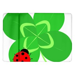 Insect Flower Floral Animals Green Red Line Samsung Galaxy Tab 10 1  P7500 Flip Case by Mariart