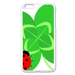 Insect Flower Floral Animals Green Red Line Apple Iphone 6 Plus/6s Plus Enamel White Case by Mariart