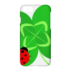 Insect Flower Floral Animals Green Red Line Apple Iphone 7 Hardshell Case by Mariart