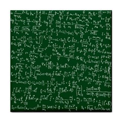 Formula Number Green Board Tile Coasters by Mariart