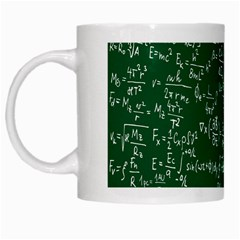 Formula Number Green Board White Mugs by Mariart